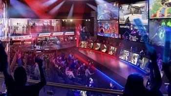 Eine Illustration der neuen E-Sport-Arena