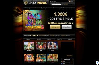 Casino Midas Scrrebshot 1